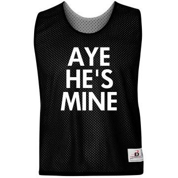 Aye He's Mine Girl Pinnie