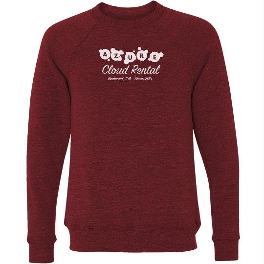 Azure Cloud Rental Crewneck Sweater Red