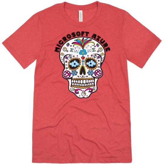 Azure Day of the Dead Vintage Red