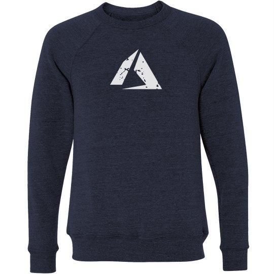 Azure Logo Crewneck Sweater Navy