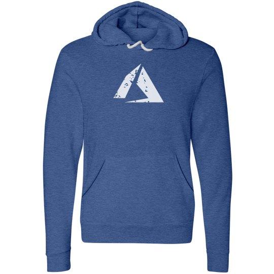 Azure Logo Fleece Pullover Hoodie Heather True Blue