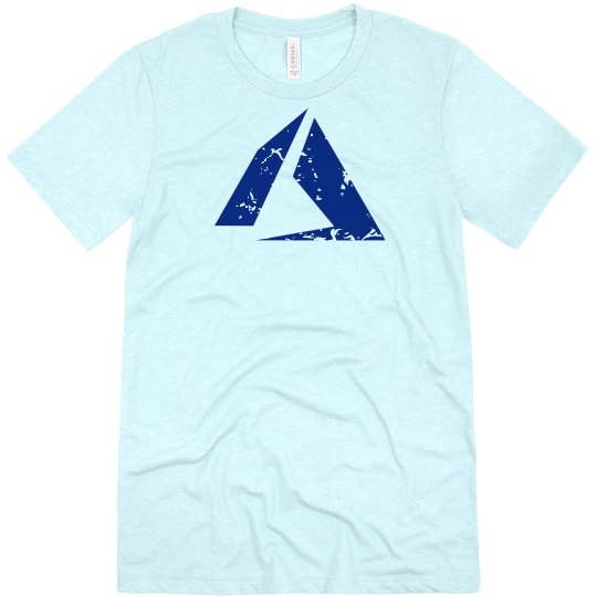 Azure Logo Tee Heather White