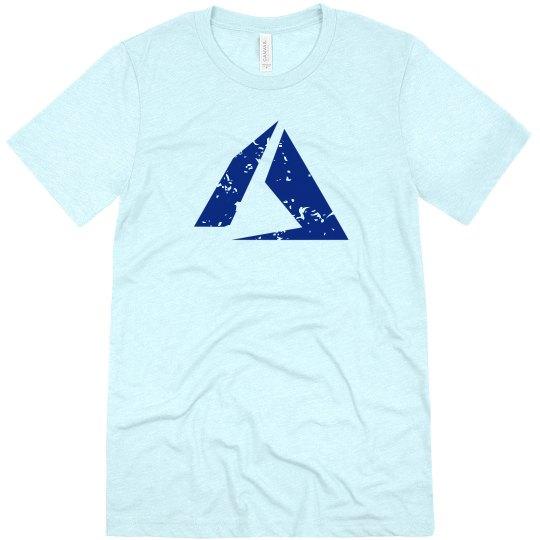 Azure Logo Tee Ice Blue Triblend
