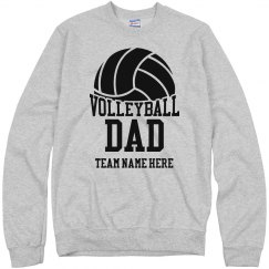 Custom Team Volleyball Dad