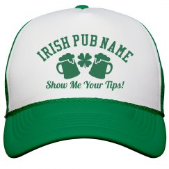 Irish Pub Bartender Green Hats