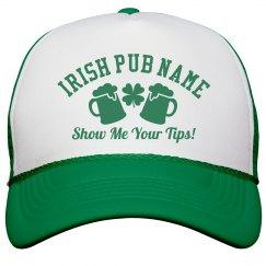 Irish Pub Bartender Green Hats