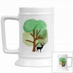 Tree and Elk Stein