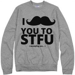 I mustache you ....
