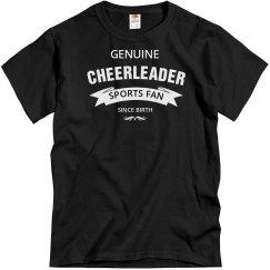 Genuine cheerleader sports fan