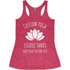 Custom Yoga Studio Lotus Tanks