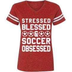 Stressed & Blessed Soccer Girl