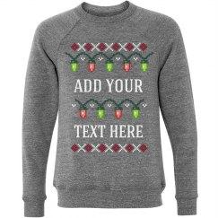 Custom Ugly Sweater Christmas Lights