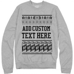 Custom Beer Can Ugly Sweater