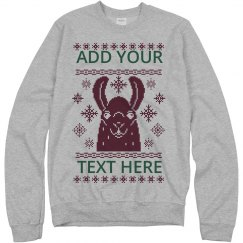 Custom Lama Ugly Sweater Design