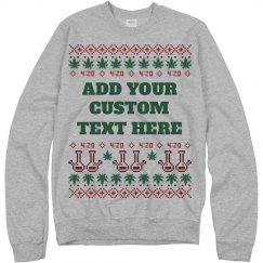 Custom Bong Ugly Sweater