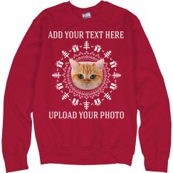 Funny Custom Photo Upload Ugly Sweater