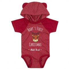 Custom Text Baby's First Christmas