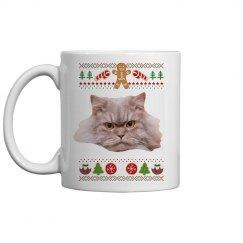 Add Your Pet Holiday Ugly Sweater Coffee Mug