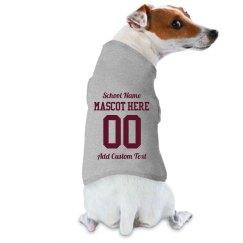 Custom Dog School Sports Fan Gift