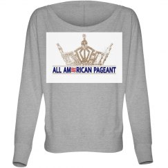 All American Pageant Flowy Long Sleeve Shirt Grey
