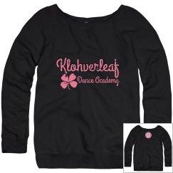 Women's Wide Neck Sweatshirt in Navy