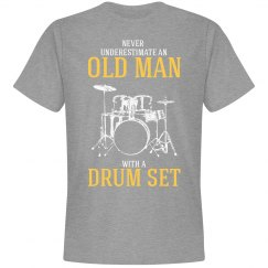 Never underestimate an old man with a drum set