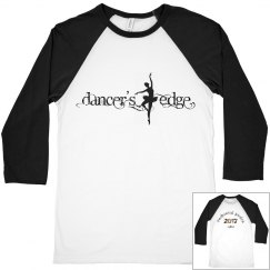 Dancer's Edge Recital 2017 Basebell Tee