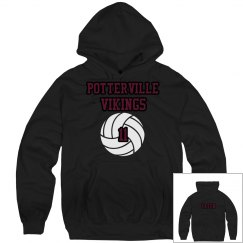 Potterville Vikings Sweatshirt - Volleyball