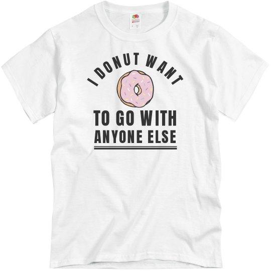 539d0c54 Cute Donut Prom-Posal Unisex Basic Promo T-Shirt