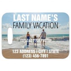 Custom Family Vacation Luggage Tag