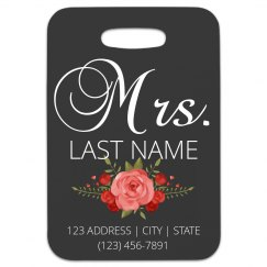 Custom Mrs. Couple Luggage Tag