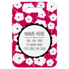 Graphic Floral Pattern Custom Tag