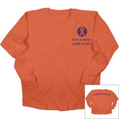 Stay Strong Climb Stair-jr scoop front tee