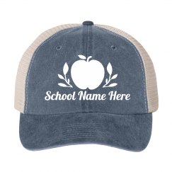 School Name Teacher Apple Hat