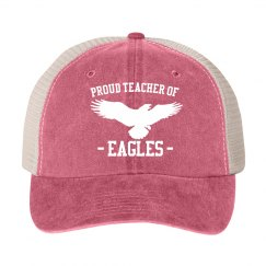 Custom Mascot Proud Teacher Hat