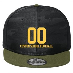 Custom School Football Number Hat