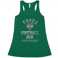 Custom Silver Proud Football Mom