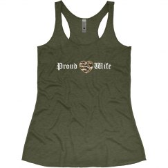 Proud Camo Heart Wife Tank