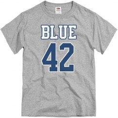 Varsity Football Blue 42 Shirt