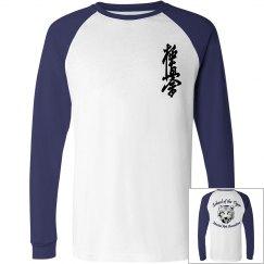 Long Sleeve Raglan Tee with Kanji and Logo