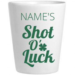Shot O' Luck Irish Shot Glass