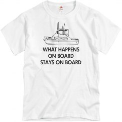What happens on board