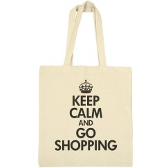 Keep calm go shopping