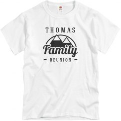 Custom Mountain Family Reunion Tee