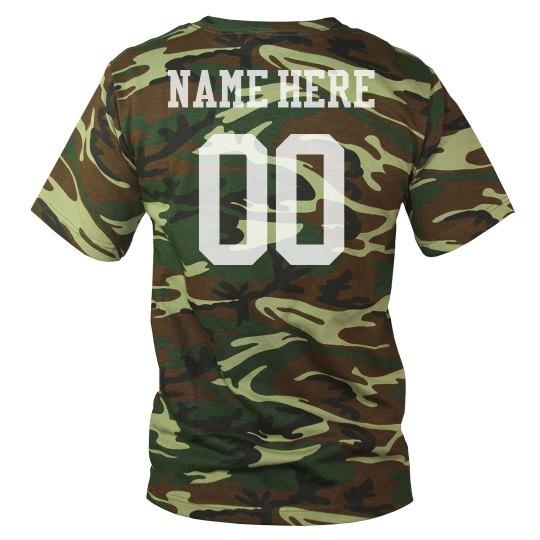 9e099bb3d Custom Camo Football Name/Number Unisex Camouflage T-Shirt
