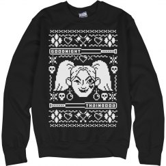 Black Harley Quinn Ugly Sweater