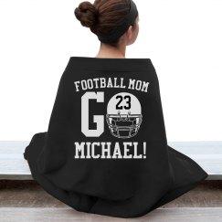 Trendy Warm Football Mom Custom Blankets