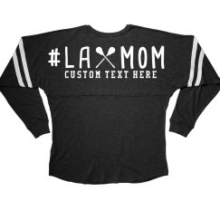 Sporty Lax Mom Long-Sleeve Custom Jersey