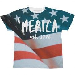 'Merican Flag Kids Tee
