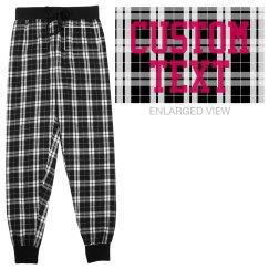 Customizable Flannel Sweatpants